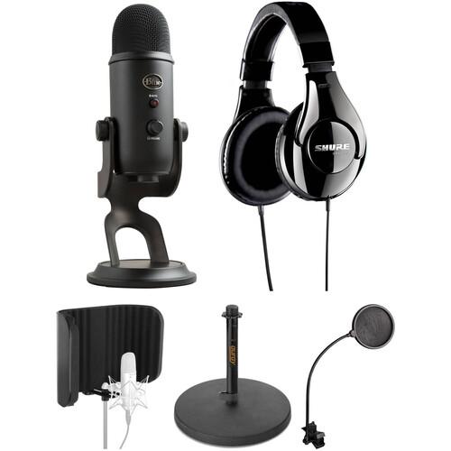 Blue Yeti USB Microphone and Recording Kit (Blackout)