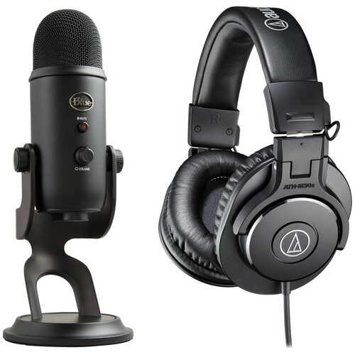 Blue Yeti USB Microphone and ATH-M30x Headphone Kit (Blackout)