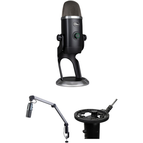 Blue Yeti X Streaming Deluxe Kit with Microphone, Boom Arm, Suspension Mount & Pop Filter