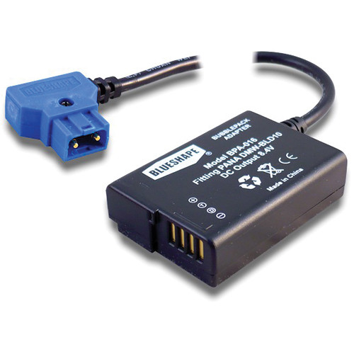 BLUESHAPE Proprietary B-Tap Power Adapter for Connecting BUBBLEPACK to Panasonic G3