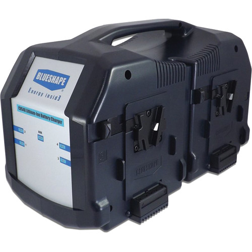 BLUESHAPE 4-Channel Charger & Monitoring Utility for V-Mount Lithium-Ion Batteries