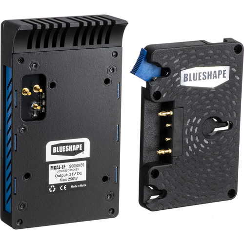 BLUESHAPE Arri LF 3 Stud Adapter Regulated Dc 21V, 220W Capability Dependent Upon Battery.