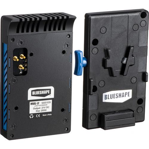BLUESHAPE Arri LF Vlock Adapter Regulated Dc 21V, 220W Capability Dependent Upon Battery.