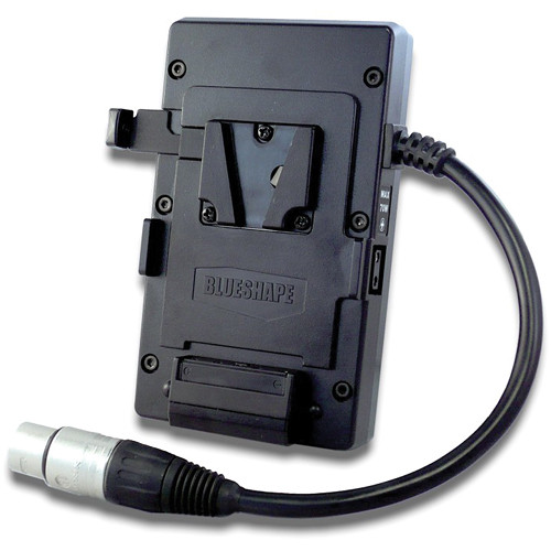 BLUESHAPE MVBELT Belt-Clip V-Mount Plate with Nominal & Regulated Output