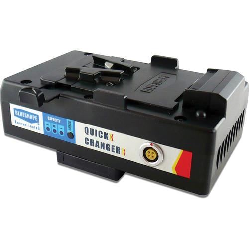 BLUESHAPE Gold-Mount to V-Mount Hot Swap Adapter