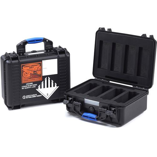 BLUESHAPE BX4 UN Certified Battery Flight Case for Four V-Mount Li-Ion Batteries