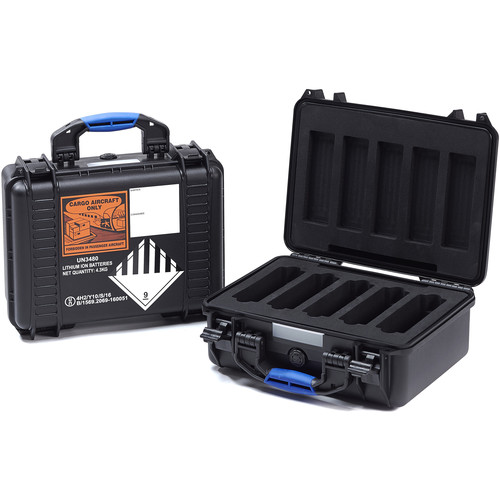 BLUESHAPE BX5 UN Certified Battery Flight Case for Five V-Mount Li-Ion Batteries
