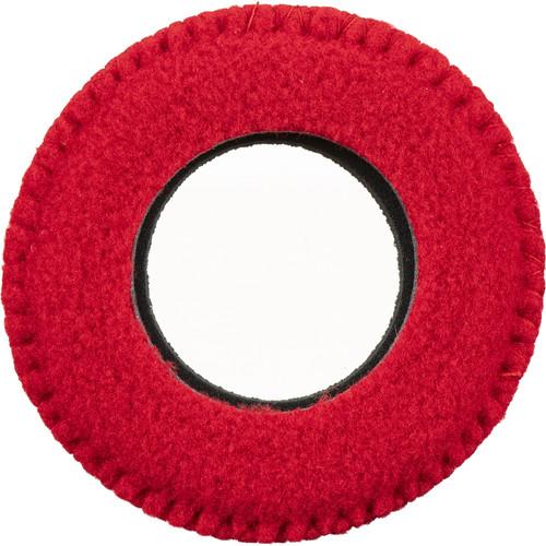 Bluestar Viewfinder Eyecushion - Round, Large, Fleece (Red)