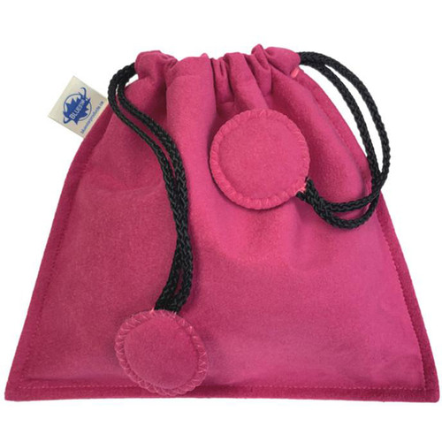 Bluestar Drawstring Bag - Ultrasuede (Pink)