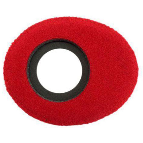 Bluestar Viewfinder Eyecushion -  Oval Ultra Small, Fleece (Red)