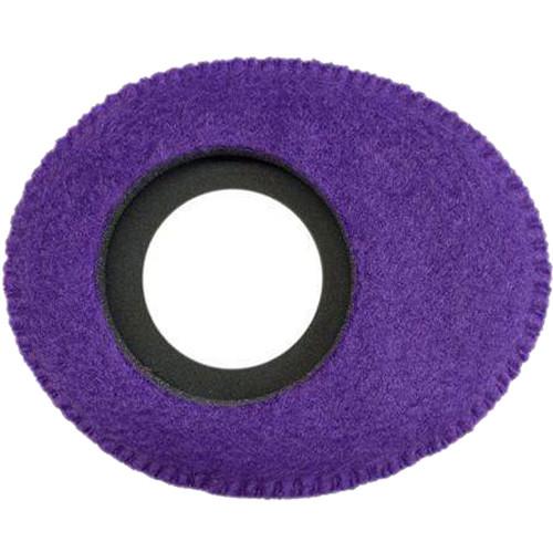 Bluestar Oval Ultra Small Viewfinder Eyecushion (Fleece, Purple)