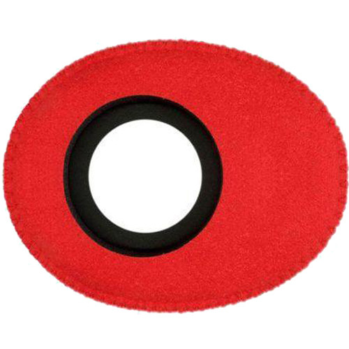 Bluestar Oval Ultra Small Viewfinder Eyecushion (Ultrasuede, Red)