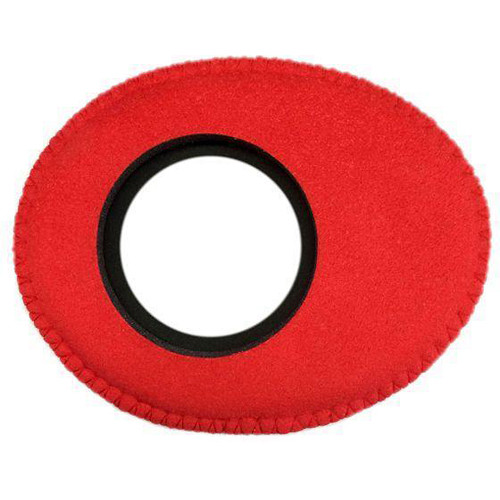 Bluestar Viewfinder Eyecushion -  Oval Extra Small, Ultrasuede (Red)