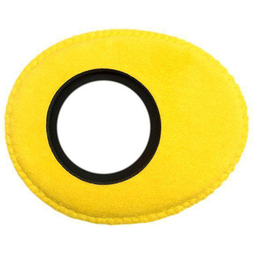 Bluestar Viewfinder Eyecushion -  Oval Extra Small, Ultrasuede (Yellow)