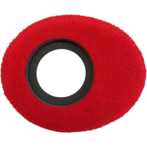 Bluestar Oval Small Viewfinder Eyecushion (Fleece, Red)