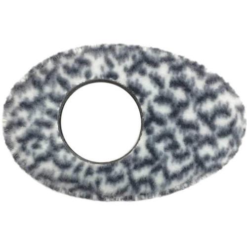Bluestar Oval Long Viewfinder Eyecushion (Fleece, Snow Leopard)