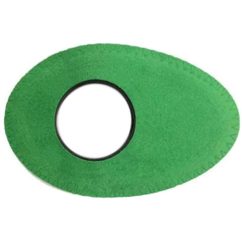 Bluestar Oval Long Viewfinder Eyecushion (Ultrasuede, Green)