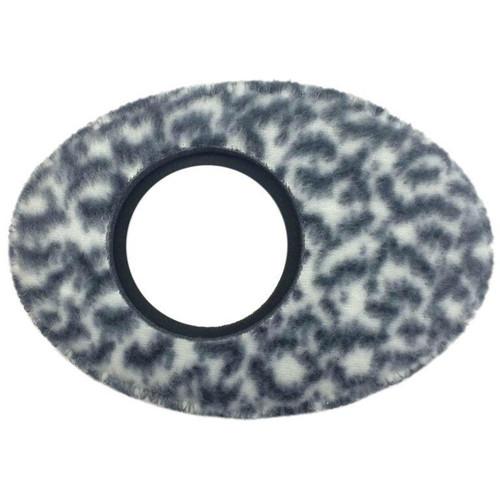 Bluestar Oval Extra Large Viewfinder Eyecushion (Fleece, Snow Leopard)