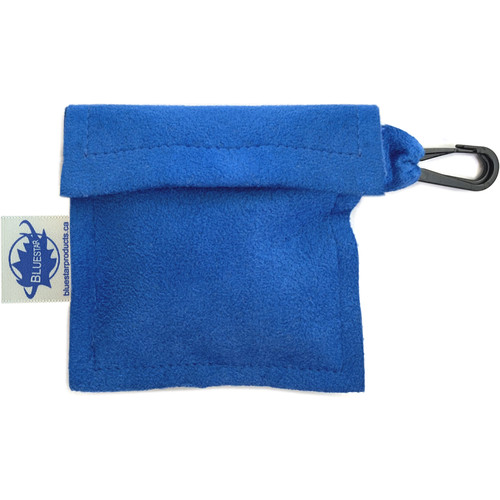 Bluestar Lens Cleaning Cloth with Ultrasuede Blue Storage Pouch