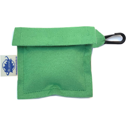 Bluestar Lens Cleaning Cloth with Ultrasuede Green Storage Pouch
