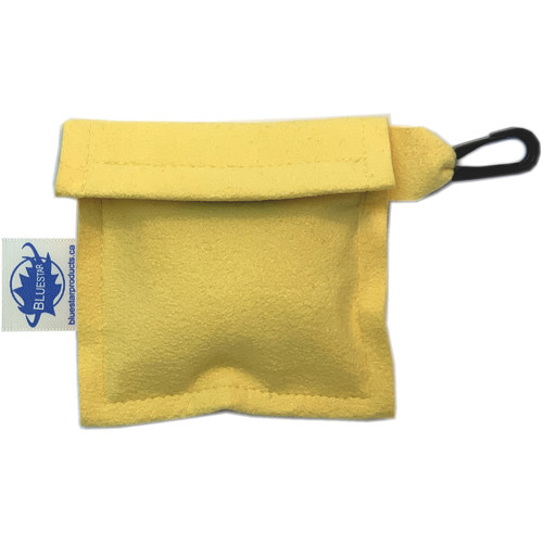 Bluestar Lens Cleaning Cloth with Ultrasuede Yellow Storage Pouch