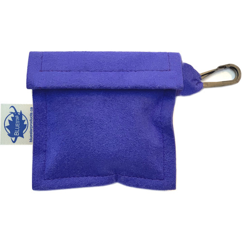 Bluestar Lens Cleaning Cloth with Ultrasuede Purple Storage Pouch