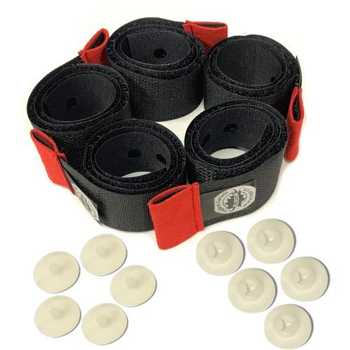 """Bluestar Premium 13"""" Hook-And-Loop Cable Ties (5 Pack, Gray)"""