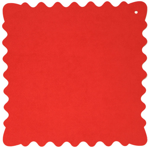 """Bluestar Ultrasuede Cleaning Cloth (Red, Large, 12 x 12"""")"""