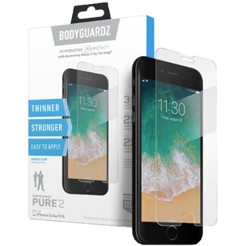 BodyGuardz Pure 2 Glass Screen Protector for iPhone X/XS