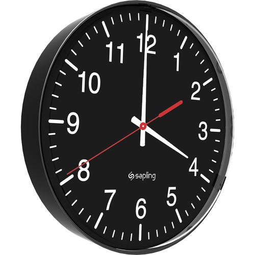 "Bogen Communications BCAP IP CLOCK PoE, 12"" Round, Slimline (Black Case,Face,White Numbers)"