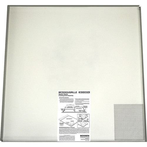 Bogen Communications 2' x 2' Ceiling Grille for Modular Drop-In Ceiling Speaker (Off-White)