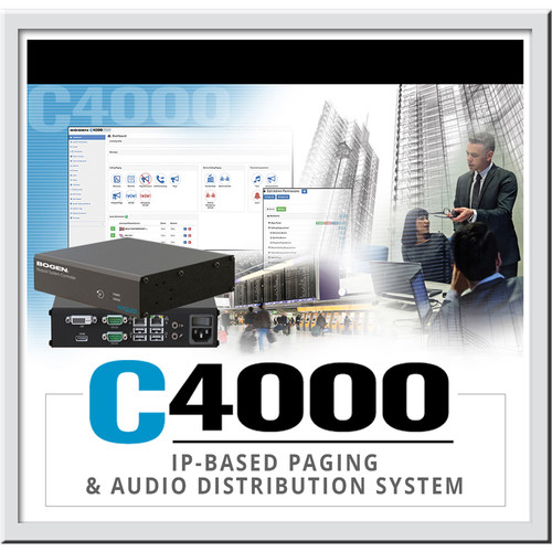 Bogen Communications C4000 System Software License - Queued Paging/Page Stacking License (Per Queue)