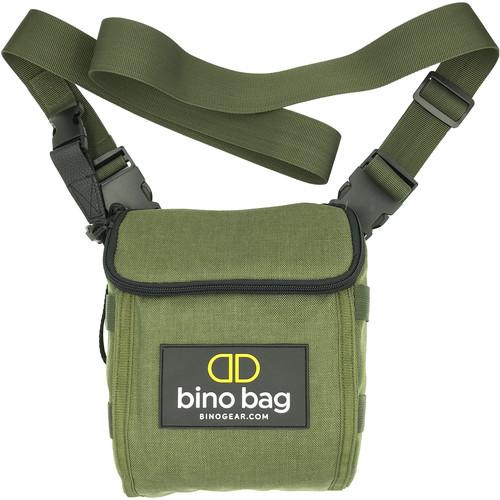 bino gear Bino Bag Case/Harness for Roof Prism Binoculars (Green)