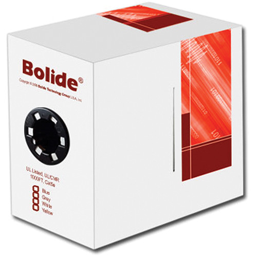 Bolide Technology Group Cat5e CMR Network Cable, (White, 1000')