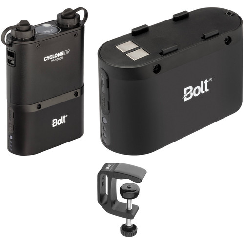 Bolt PP-500DR Dual-Outlet Power Pack with Two PP-5800BP Removable Batteries and PP-MCX Mounting Clamp Kit