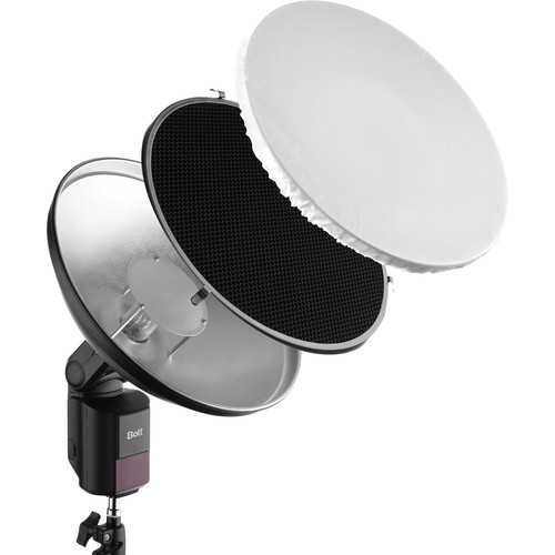Bolt Beauty Dish and Grid Kit for VB-Series Bare-Bulb Flashes