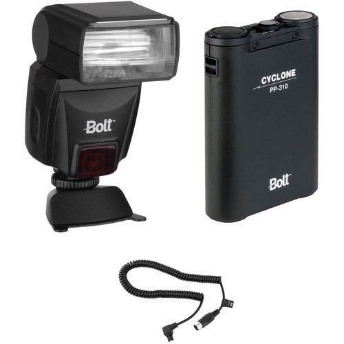 Bolt VS-560C Wireless TTL Flash Kit with Power Pack and Flash Cable for Canon Cameras