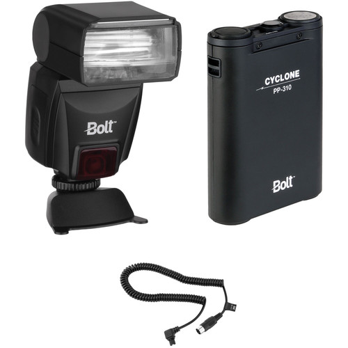 Bolt VS-560N Wireless TTL Flash Kit with Power Pack and Flash Cable for Nikon Cameras