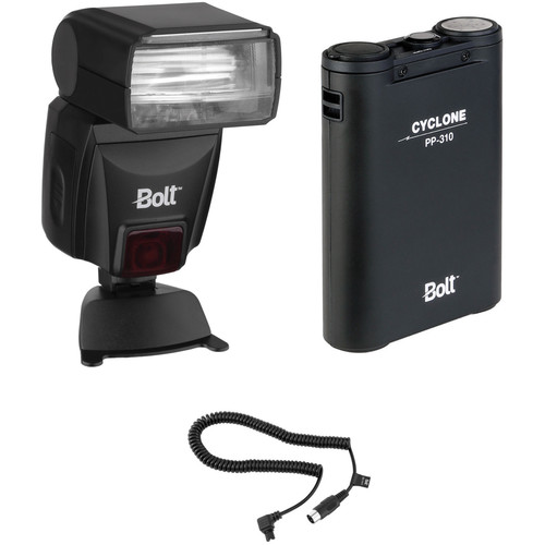 Bolt VS-560S Wireless TTL Flash Kit with Power Pack and Flash Cable for Sony/Minolta Cameras