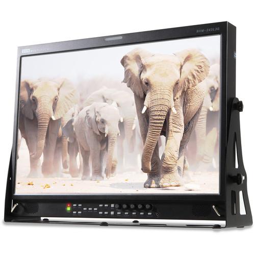 "Bon 24"" 12-Bit Monitor with 3G SDI Input, Waveform & Vectorscope Functions"