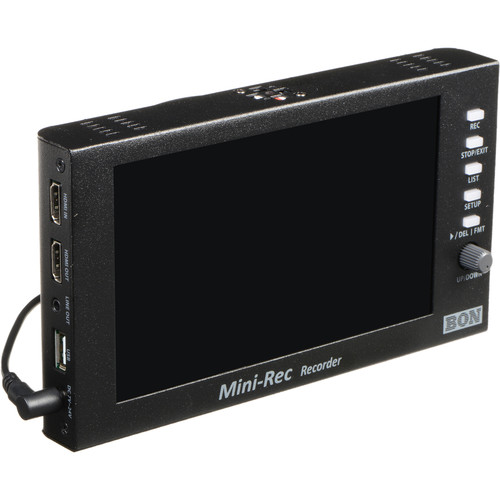 "Bon Mini-Rec 7"" Recorder/Monitor with USB Storage"