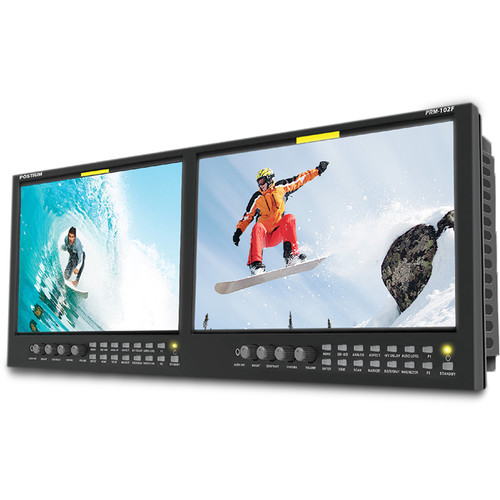 "Postium Korea Dual 10"" Full HD LCD Multi-Channel Rack Monitor"