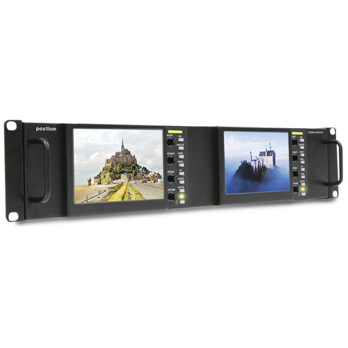"Postium Korea Dual 5"" 2RU Multi-Channel Rack Monitor"