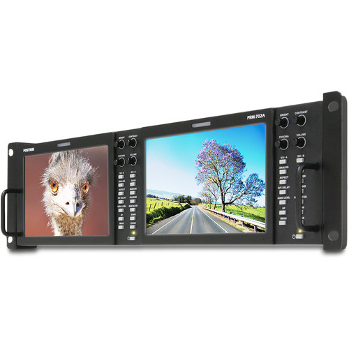 "Postium Korea Dual 7"" 3RU LCD Multi-Channel Rack Monitor"