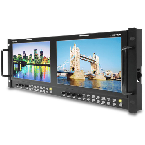 "Postium Korea Dual 9"" LCD 4RU Multi-Channel Rack Monitor"