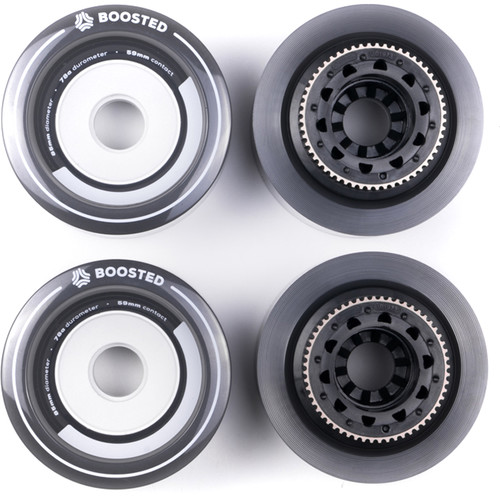 BOOSTED BOARDS Full Set Wheels for Plus & Stealth (Gray)