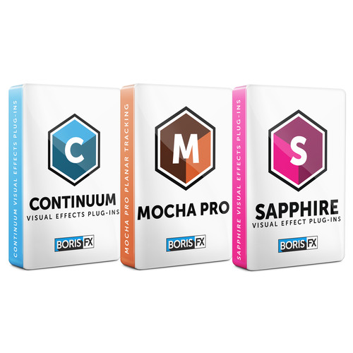 Boris FX Sapphire 11 + Continuum 11 + Mocha Pro 5 Bundle for Adobe/Avid/Flame/OFX (Academic Site License - 50 Seats, Download)