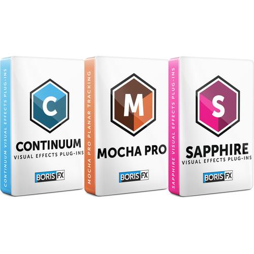 Boris FX Sapphire + Continuum + Mocha Pro Bundle: Avid/Adobe/OFX/Flame (Upgrade from Previous Version)