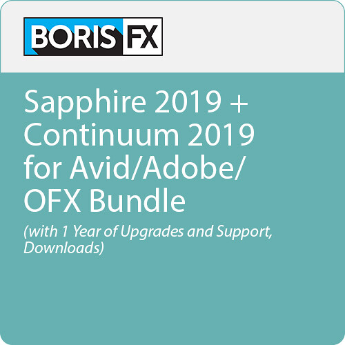 Boris FX Sapphire 2019 + Continuum 2019 for Avid/Adobe/OFX Bundle (with 1 Year of Upgrades and Support, Download)