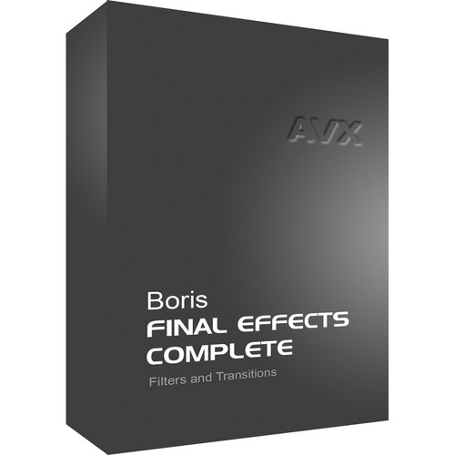 Boris FX Download: Final Effects Complete 7 AVX for Windows (Upgrade)